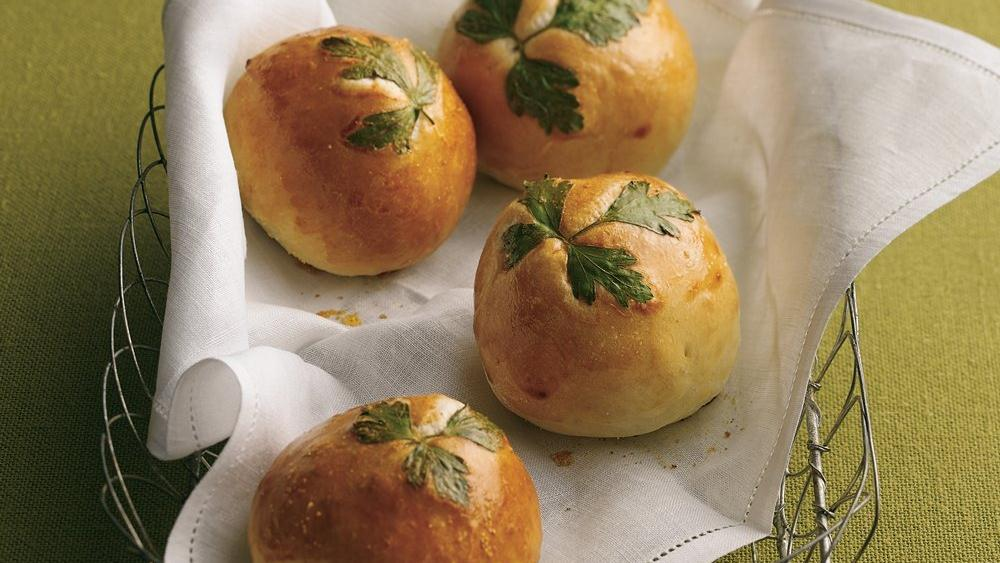 Fresh Herb-Topped Rolls