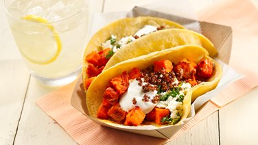 Gluten-Free Harissa Roasted Sweet Potato Tacos