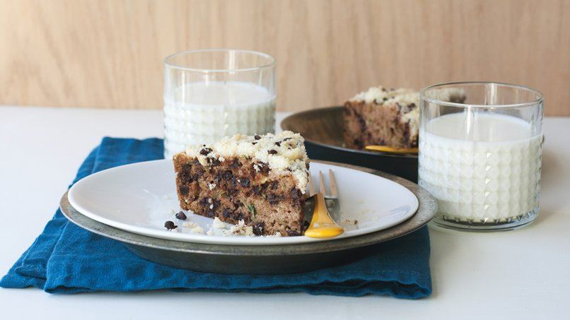 Skillet Zucchini Bread with Chocolate Chip Streusel