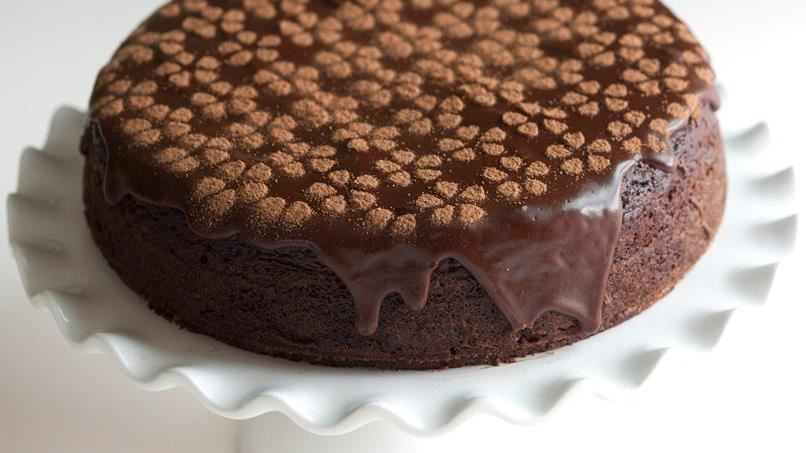 Modern Chocolate-Raspberry Cake