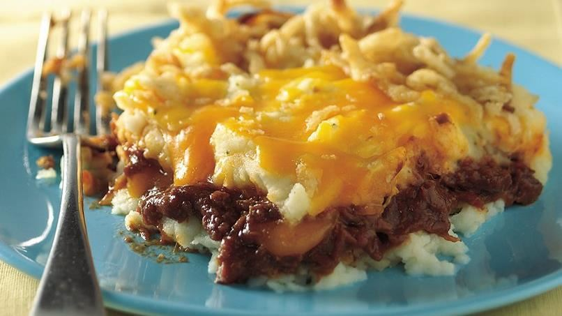 Barbeque Beef and Potato Bake