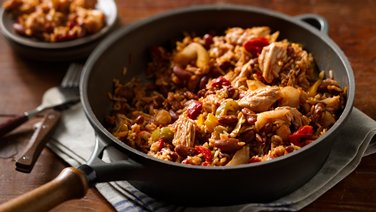 Ragin' Cajun Turkey with Rice and Beans