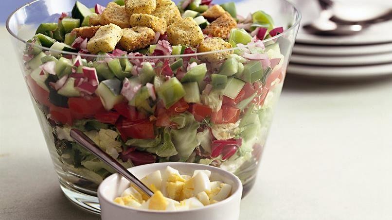 Layered Gazpacho Salad