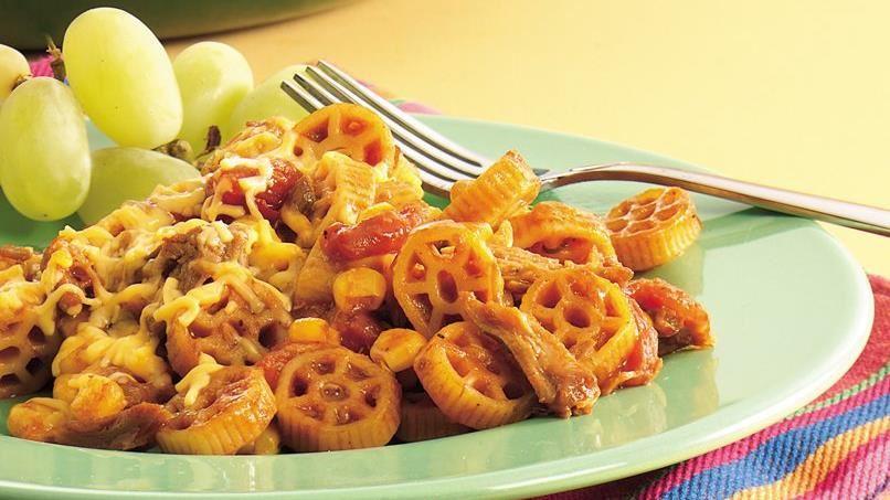 Tex-Mex Pork and Pasta Skillet