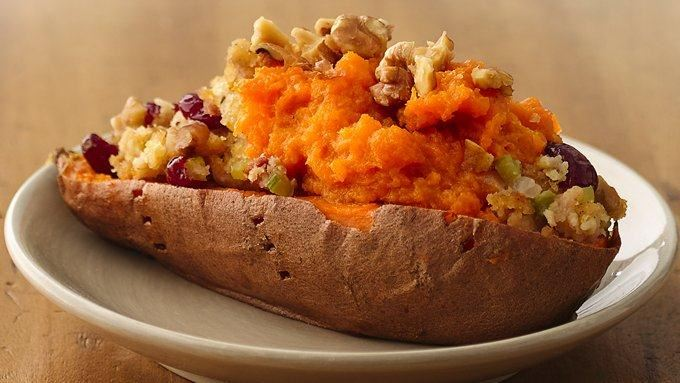 Cornbread and Bacon Stuffing in Sweet Potato Boats recipe ...