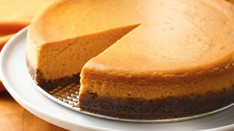 Pumpkin-Caramel Cheesecake recipe from Betty Crocker