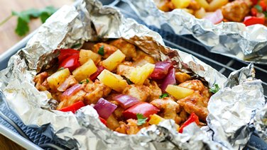 BBQ Chicken Foil Pack