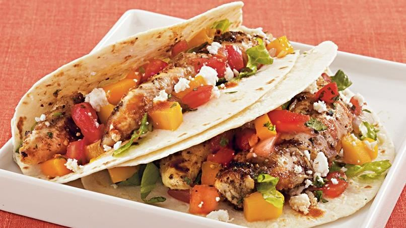 Grilled Chicken Soft Tacos