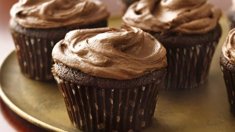 Sour Cream Chocolate Cupcakes