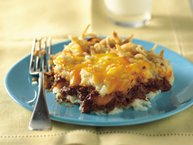 Barbecue Beef and Potato Bake