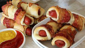 Bacon-Wrapped Crescent Dogs