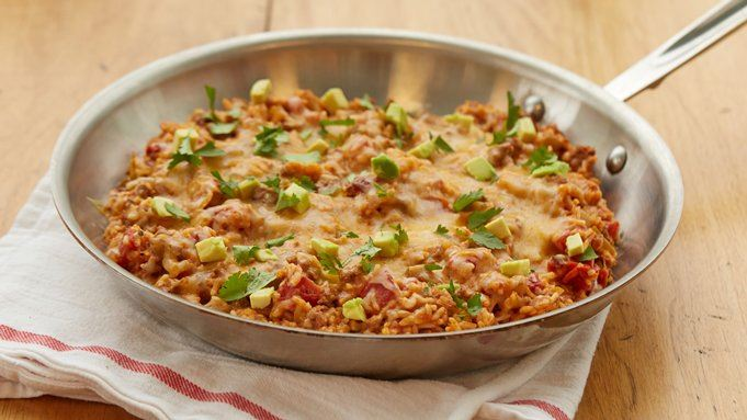 Mexican Beef and Rice Skillet recipe - from Tablespoon!