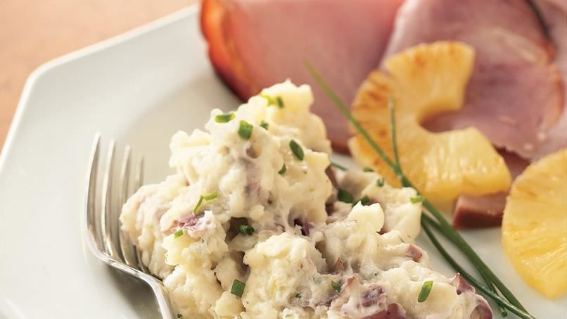 Slow-Cooker Country Chive and Ranch Smashed Potatoes