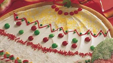 Giant Christmas Ornament Cookie