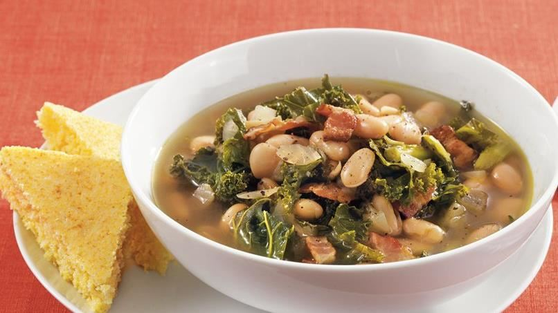 Greens, Beans and Bacon Soup