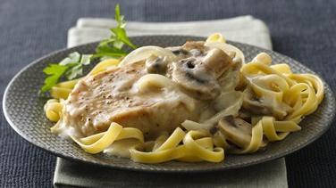 Pork Chops in Savory Mushroom Cream Sauce
