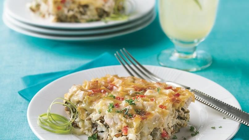 Cheesy Wild Rice and Turkey Casserole