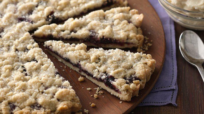 Berry Filled Shortbread Brunch Tart