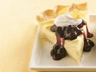 Lemon Cream Cheese-Blueberry Pie