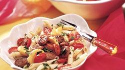 Italian Sausage with Tomatoes and Penne