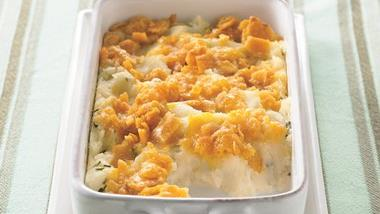Cheesy-Topped Mashed Potato Casserole