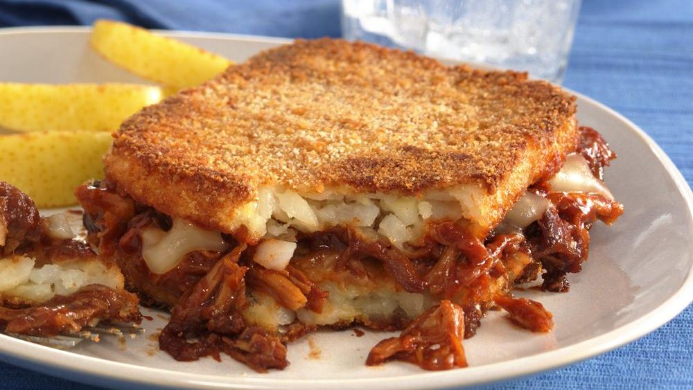 Crispy Potato Barbecue Stacks