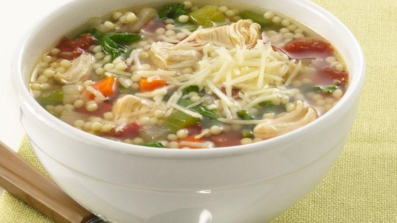 Sopa de Pastina y Pollo