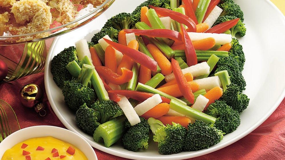 Vegetable Tree with Nacho Cheese Dip