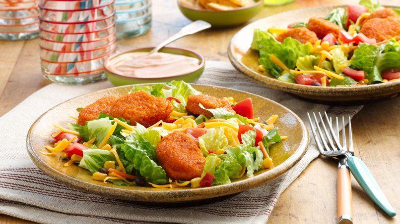 Chicken Nugget Taco Salads