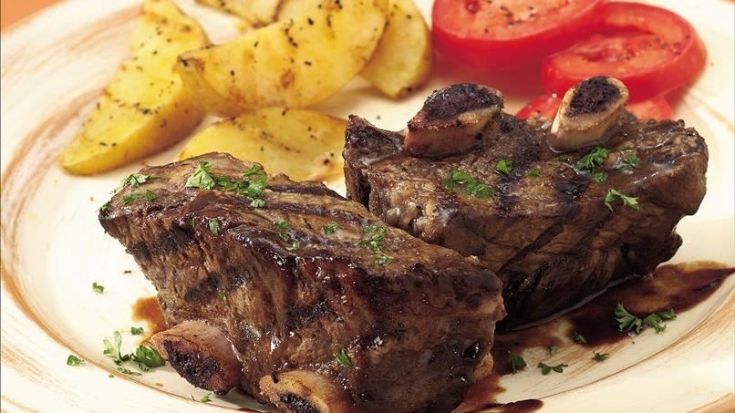 Grilled Short Ribs with Balsamic Sauce