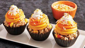 No-Bake Candy Corn Cereal Treats
