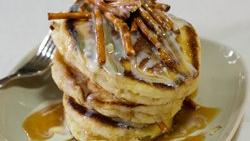 White Chocolate Pretzel Pancakes