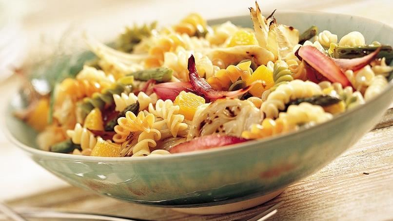 Grilled Asparagus and Fennel Pasta Salad (Cooking for 2)