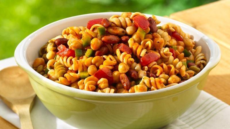 Three-Bean Pasta Salad