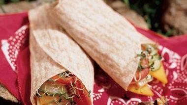 Cheese and Veggie Wraps