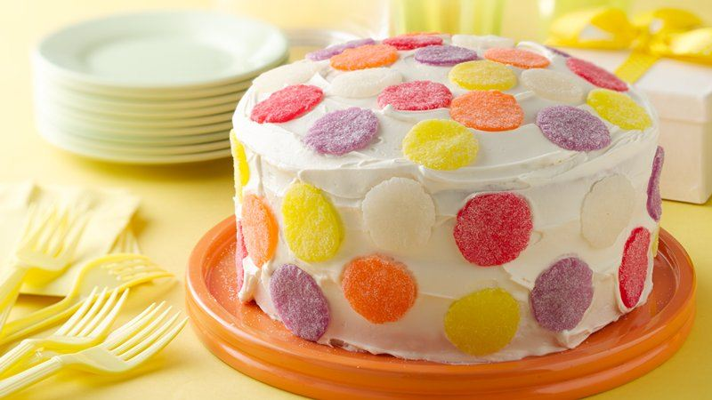 Simple Gum Drop Polka Dot Cake Recipe From Betty Crocker