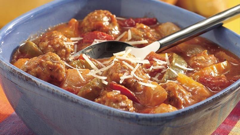 Slow-Cooker Easy Italian Meatball Stew