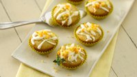 Orange-Thyme Mini Cupcakes