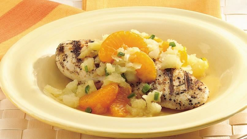 Grilled Chicken Breasts with Mandarin Orange Salsa