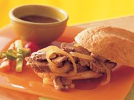 Slow-Cooker Mushroom and Onion Pot Roast Sandwiches