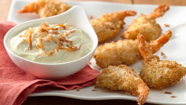 Coconut Curry Dip with Shrimp