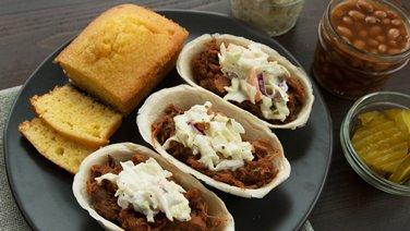 Memphis-Style Pulled Pork Mini Taco Boats™