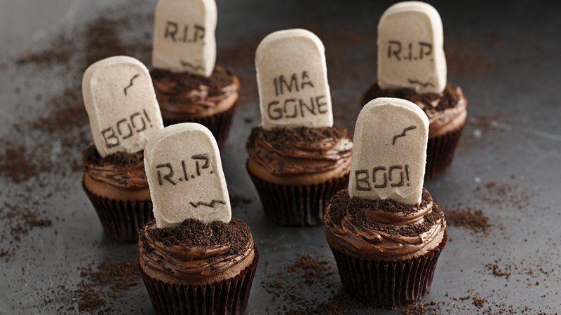PEEPS® Tombstone Cupcakes recipe from Betty Crocker