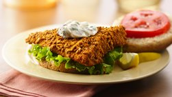 Fish Sandwiches with Lemon-Basil Mayo Sauce