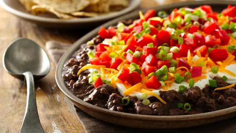 Layered Chorizo Black Bean Dip