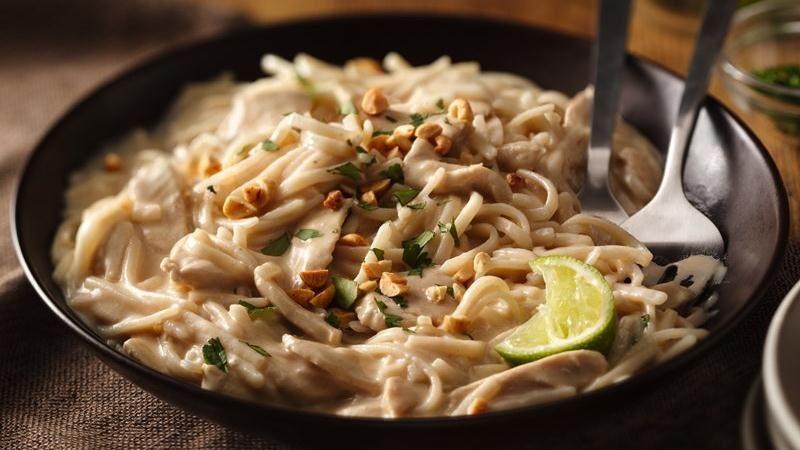 Basil Chicken Thai Noodles