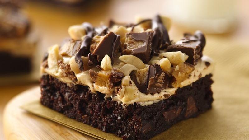 Peanut Butter Rocky Road Brownies recipe from Betty Crocker