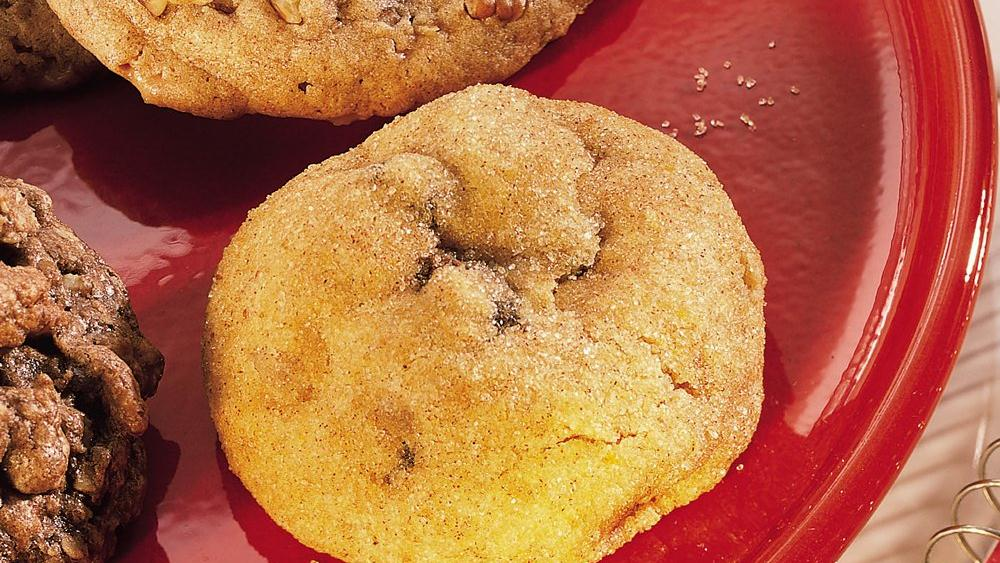 Pumpkin, Raisin and Ginger Cookies