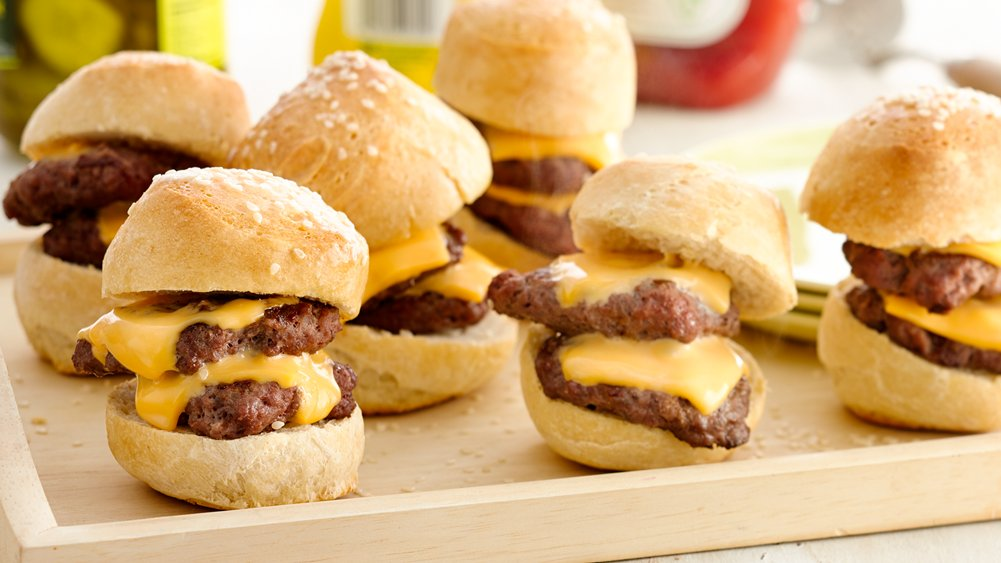 Grilled Double-Double Sliders