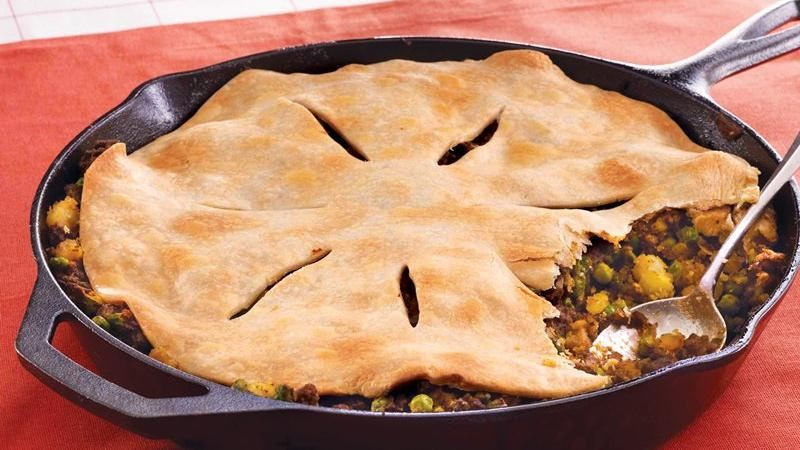 Curry Beef Samosa Pie